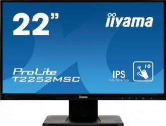Monitor LED 22 Touchscreen Iiyama ProLite T2252MSC-B1 Full HD IPS 7ms Monitoare LCD LED