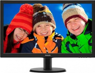 imagine Monitor LED 23 Philips 233V5LHAB Full HD Cu Boxe Black 233v5lhab/00