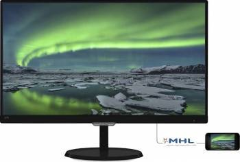 Monitor LED 23 Philips 237E7QDSB00 FullHD 5ms Black Monitoare LCD LED