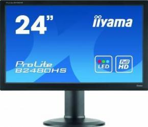 Monitor LED 23.6 Iiyama B2480HS-B2 FullHD 2ms Negru Monitoare LCD LED