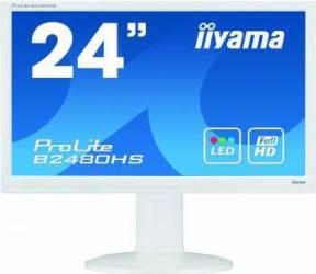 Monitor LED 23.6 Iiyama B2480HS-W2 FullHD 2ms Alb