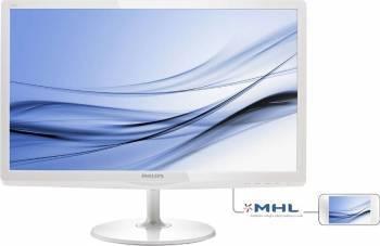 Monitor LED 23.6 Philips -line 247E6EDAW FulHD 5ms White Monitoare LCD LED