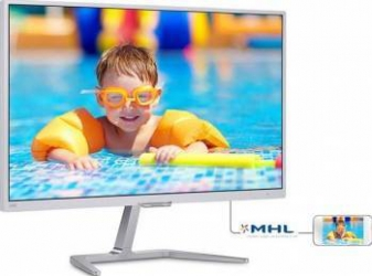 Monitor LED 23.6 Philips 246E7QDSW FullHD 5ms Silver Monitoare LCD LED