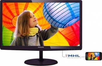 Monitor LED 23.6 Philips 247E6LDAD FullHD 1ms Black-Cherry Monitoare LCD LED