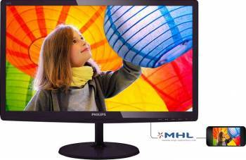Monitor LED 23.6 Philips 247E6QDAD Full HD 5ms GTG Visiniu Monitoare LCD LED