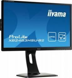 Monitor LED 23.8 Iiyama XB2483HSU-B2 Full HD 4 ms Negru Monitoare LCD LED