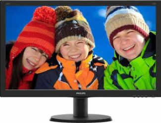 Monitor LED 23.8 Philips 240V5QDAB FullHD 5ms Black Monitoare LCD LED