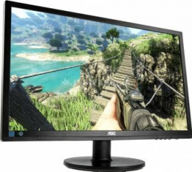 Monitor Gaming LED 24 AOC G2460FQ Full HD 144Hz 1ms GTG Negru Monitoare LCD LED