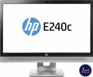 Monitor LED 24 HP EliteDisplay E240C Full HD IPS 7ms Refurbished Monitoare LCD LED Reconditionate