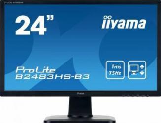 Monitor LED 24 Iiyama ProLite B2483HS-B3 Full HD 1ms Monitoare LCD LED