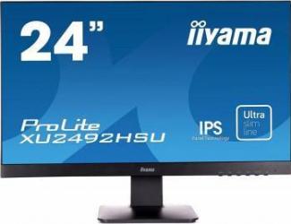 Monitor LED 24 Iiyama ProLite XU2492HSU-B1 Full HD IPS 5ms Monitoare LCD LED