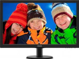 imagine Monitor LED 24 Philips 243v5lhab00 Full HD Cu Boxe Black 243v5lhab/00