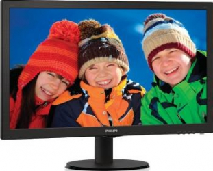 Monitor LED 24 Philips 243V5LSB Full HD 5ms Black Monitoare LCD LED
