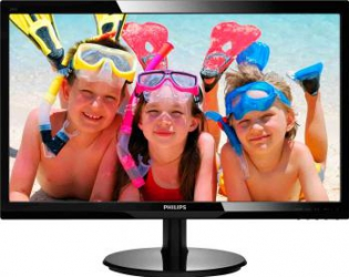 Monitor LED 24 Philips 246V5LHAB Full HD 5ms Hdmi Black Monitoare LCD LED