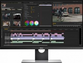 Monitor LED 25 Dell UP2516D InfinityEdge WQHD IPS Negru Resigilat