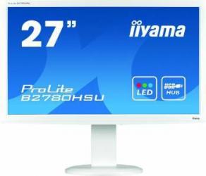 Monitor LED 27 Iiyama B2780HSU-W1 FullHD 1ms Alb Monitoare LCD LED
