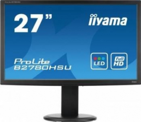 Monitor LED 27 Iiyama ProLite B2780HSU-B1 Full HD 2ms GTG Negru Monitoare LCD LED