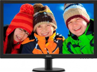 Monitor LED 27 Philips 273V5LHAB Full HD 5ms Cu Boxe Black Monitoare LCD LED