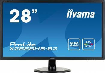 Monitor LED 28 Iiyama Prolite X2888HS-B2 Full HD 5ms Negru Monitoare LCD LED
