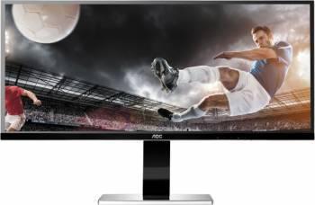 Monitor LED 34 AOC U3477PQU UWQHD 5ms Negru Monitoare LCD LED