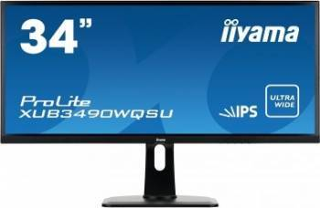 Monitor LED 34 Iiyama XUB3490WQSU-B1 UWQHD IPS 5ms Negru Monitoare LCD LED