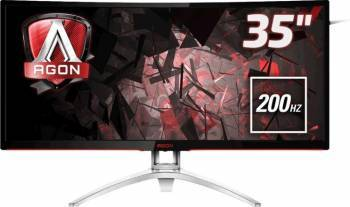Monitor LED 35 AOC AG352QCX Curbat UW-UXGA 200Hz 4ms Monitoare LCD LED