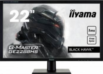 Monitor Gaming LED 22 Iiyama G-Master Black Hawk Full HD 1ms Monitoare LCD LED