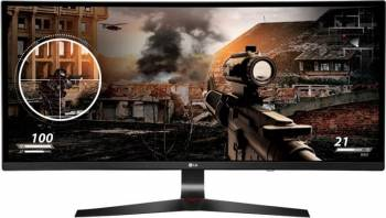 Monitor Gaming LED 34 LG 34UC79G-B Curbat 2K UW-UXGA IPS 5ms 144Hz Monitoare LCD LED