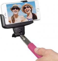 Monopied pentru Selfie KitVision Bluetooth Pink Gimbal, Selfie Stick si lentile telefon