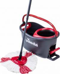 Mop rotativ Vileda Easy Wring and Clean Turbo, Negru-Rosu Curatenie Bucatarie