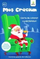 Mos Craciun - Carte de colorat cu abtibilduri