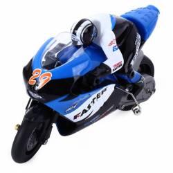 Motocicleta iUni MotoToy 222 Giroscop Scara 1 10 Albastru Jucarii cu Telecomanda