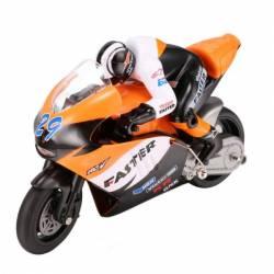 Motocicleta iUni MotoToy 222 Giroscop Scara 1 10 Portocaliu Jucarii cu Telecomanda