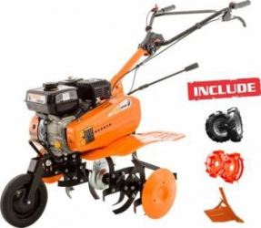 Motosapa Dac 7000ACC1 7CP + roti cauciuc + roti met 300 fara manicot + rarita ajustabila Motosape