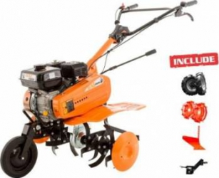 Motosapa Ruris Dac 7000ACC2 7CP + roti cauciuc +roti met 300 fara manicot + plug + adaptor Motosape