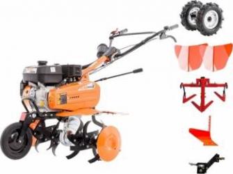 Motosapa Ruris Dac 7009ACC 7CP roti cauciuc + 2 rarite + cultivator + plug + adaptor Motosape