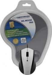 Mouse Esperanza EM125E Optic 1200DPI+Gel Mouse Pad Argintiu Mouse