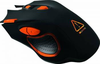 Mouse Gaming Canyon Corax 6500 DPI USB Negru-Portocaliu Mouse Gaming