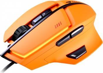 Mouse Gaming Laser Cougar 600M 8200DPI Portocaliu Mouse Gaming
