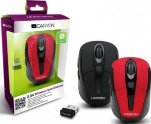 Mouse Laptop Wireless Canyon CNR-MSOW06R Red Mouse Laptop