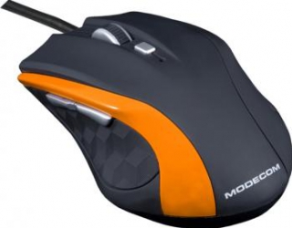 Mouse Modecom MC-M5 Optic 2400dpi Negru cu Portocaliu
