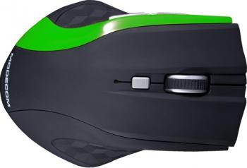 Mouse Modecom Wireless MC-WM5 Optic Negru cu Verde Mouse