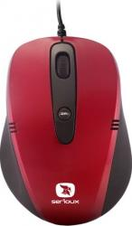 Mouse Laptop Serioux Cruzer 170 1600DPI Optic USB Red