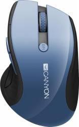 Mouse Wireless Canyon CNS-CMSW01BL 1600 DPI Blue LED USB Blue Mouse