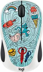 Mouse Wireless Logitech M238 Doodle Collection BAE-BEE BLUE USB Mouse