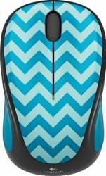 Mouse Wireless Logitech M238 Play Collection - TEAL CHEVRON
