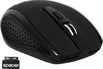 Mouse Wireless Optic Spacer SPMO-242 1600dpi Negru Mouse