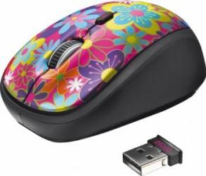Mouse Wireless Trust Yvi Flower Power