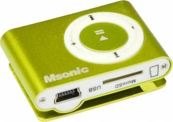 MP3 Player Msonic miniUSB Aluminiu Galben