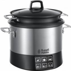 Multicooker Russell Hobbs Cook@Home 23130-56, 1000W, 4.5 l, 8 programe automate, Inox Aparate speciale de gatit